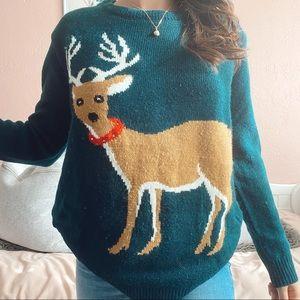 Reindeer light-up sweater
